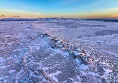 Eldvörp Volcano Ridge │ Iceland Landscape from Air