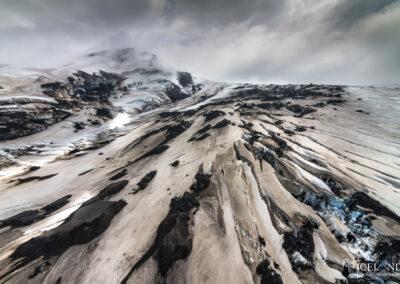 Eyjafjallajokull Glacier Outlet │ Iceland Landscape from Air