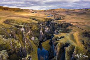 Fjaðrárgljúfur canyon – South – Iceland Landscape from Air