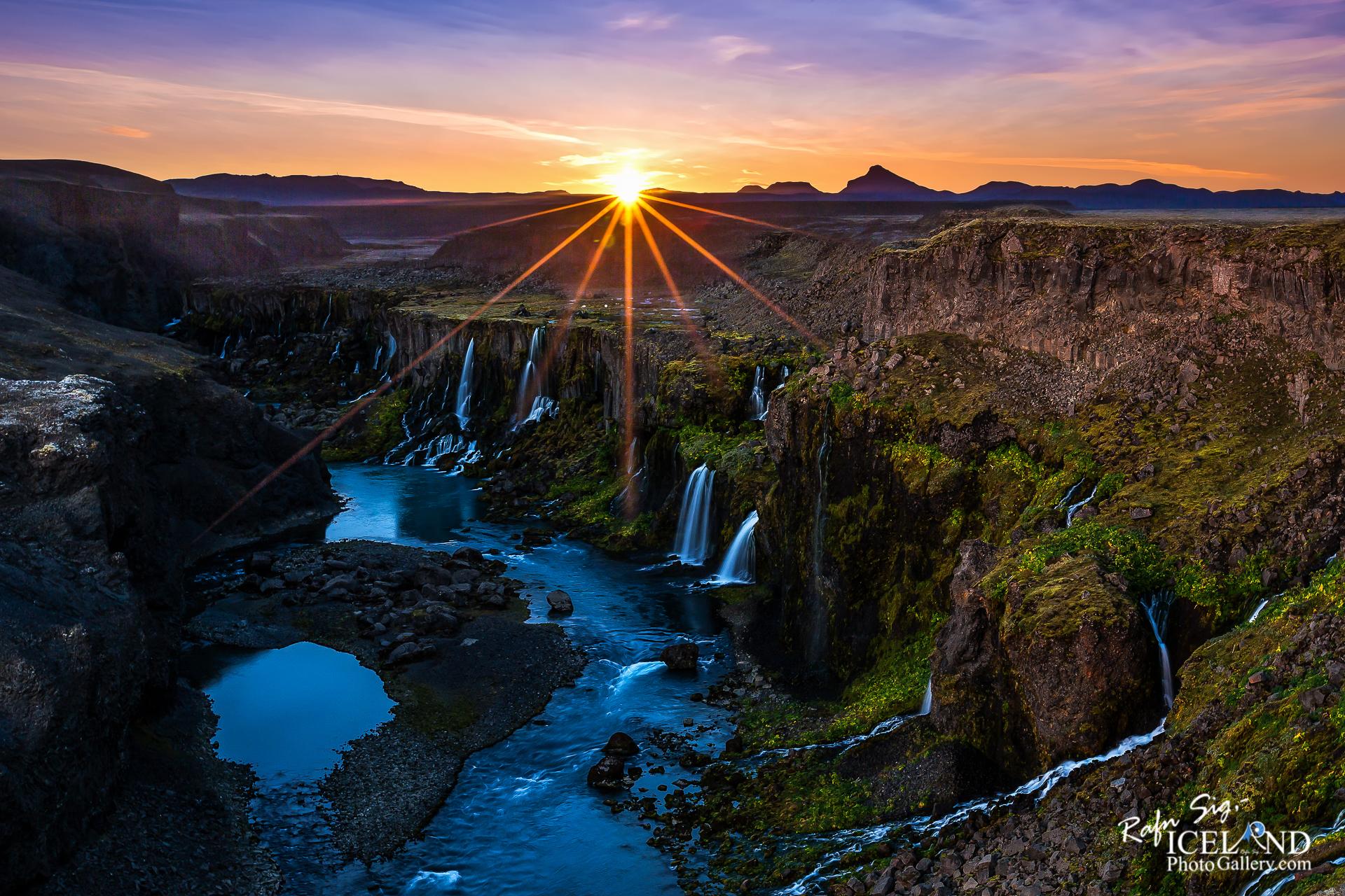Fögrufossar Waterfalls in Sigöldugil Canyon │ Iceland Land