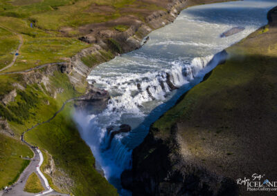Gullfoss waterfall in the canyon of Hvítá river │ Iceland ci
