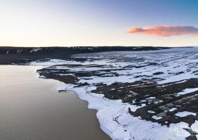 Hagavatn and Langjökull glacier in the twilight│ Iceland Land