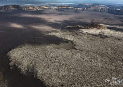 Hekla Volcano Lava edge │ Iceland Landscape from Air