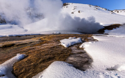 Hengill Geothermal area in winter │ Iceland Landscape