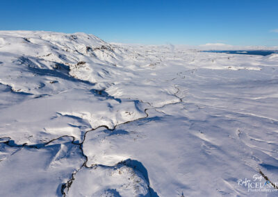 Hengill volcano area in winter│ Iceland Landscape from Air