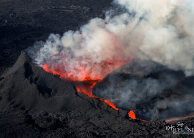 Holuhraun Volcanic eruption in the Highlands │ Iceland Landscape from air