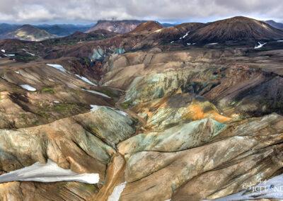 Hrafntinnusker Geothermal area │ Iceland Landscape from Air