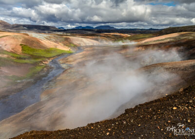 Hrafntinnusker Geothermal in the Highlands │ Iceland Landscape