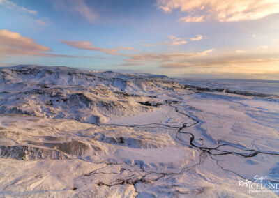 Hveragerði and Snowy Mountain │ Iceland Landscape From Air