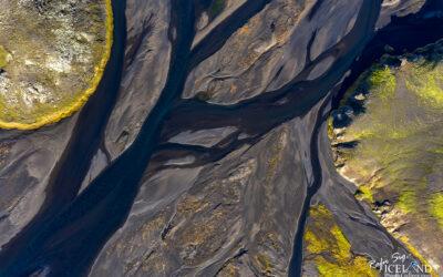 Jökuldalakvísl Patterns from Air │ Iceland Landscape from Ai