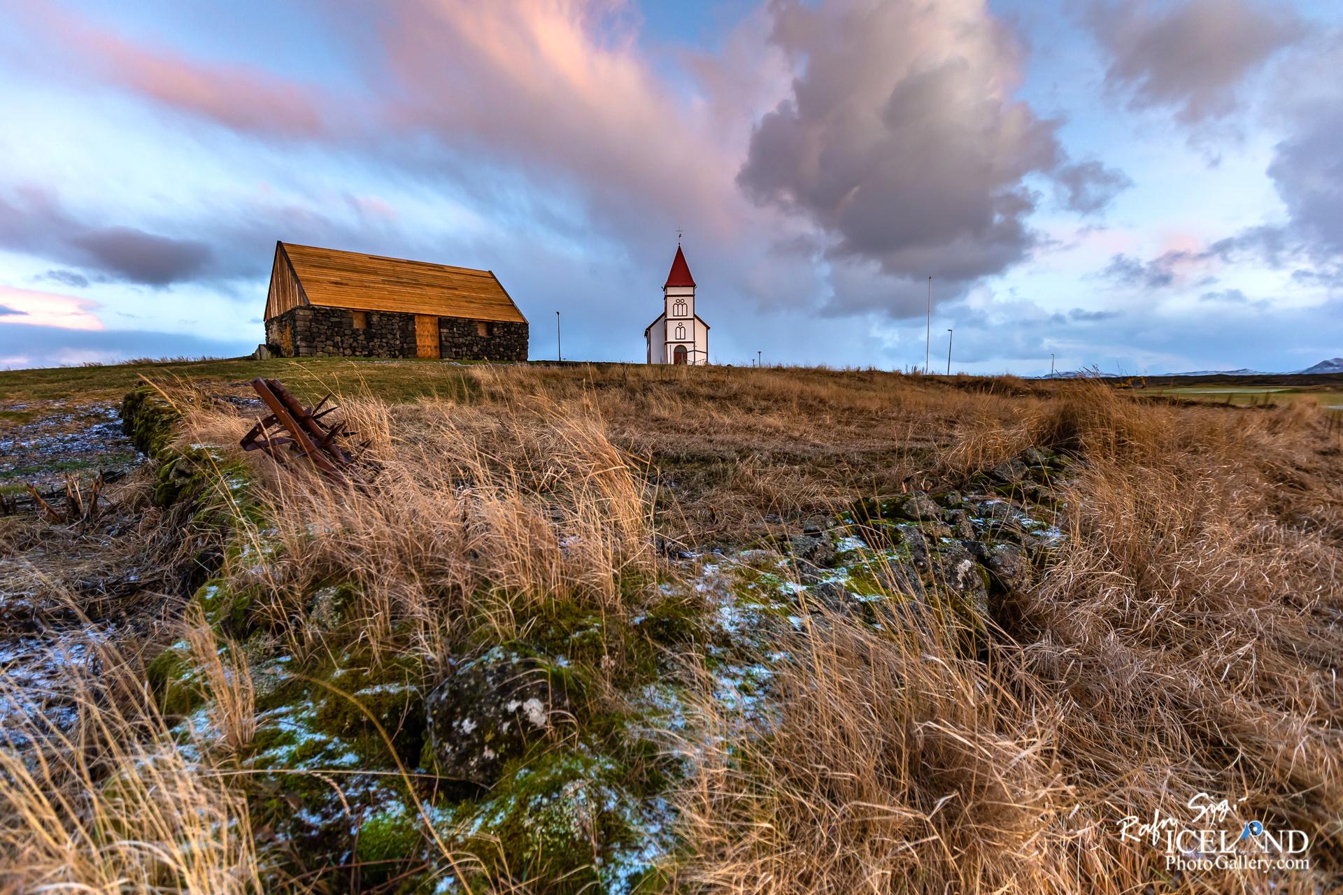 Kálfatjarnarkirkja at Vatnsleysuströnd - South West │ Iceland
