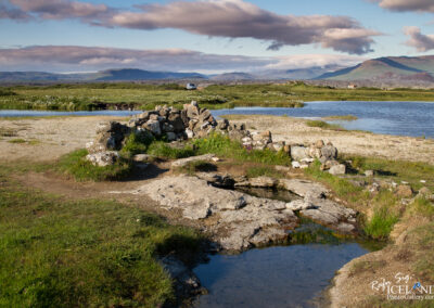 Landbrotalaug - Natural hot pool - West │ Iceland Landscape Ph