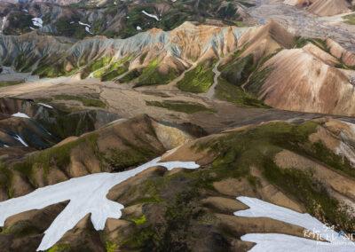 Highlands of Landmannalaugar │ Iceland Landscape from Air