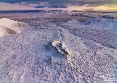 Nyrðri-Eldborg Volcano │ Iceland Landscape From Air