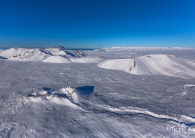 Nyrðri-Eldborg in winter│ Iceland Landscape from Air