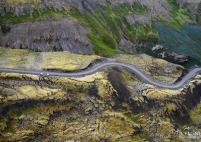 Road curving down at Hengill Volcano area │ Iceland Landscape
