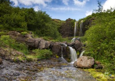 Small waterfall in Hvalförður - West │ Iceland Landscape Pho