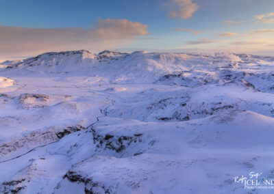 Snowy mountains in the Highlands │ Iceland Landscape From Air