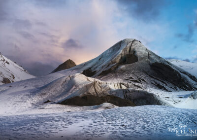 Sólheimajökull glacier outlet in winter twilight – Documenti