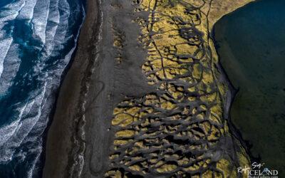 Stóra Sandvík Black Beach │ Iceland Landscape from Air