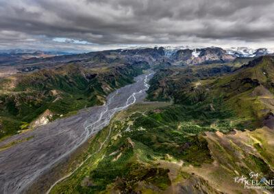 Þórsmörk - Valley of Thor │ Iceland Landscape from Air