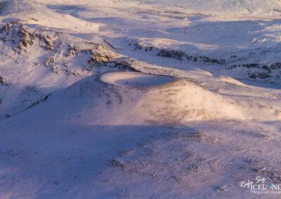 Tjarnarhnúkur crader in the Highlands │ Iceland Landscape fro