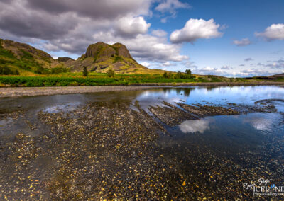 Vegghamrar are rocky cliffs in Þjórsárdalur - #Iceland