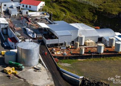 Whalestation in Hvalfjörður Bay │ Iceland Landscape from Air