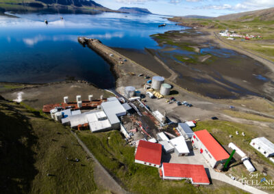 Whaling station. Hvalfjörður │ Iceland Landscape from Air