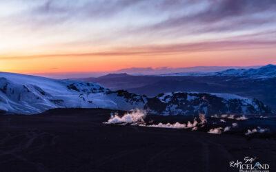 Sunset at Fimmvörðuháls Eruptions │ Iceland Landscape Photo