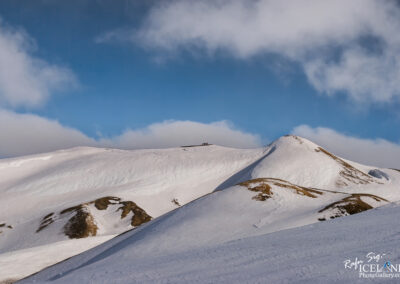 At the top of Hrafntinnussker, Highlands of Iceland