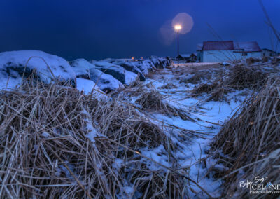 Blue hour in Vogar │ Iceland city Photography