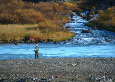 Salmon angler in autumn - West │ Iceland Landscape Photography