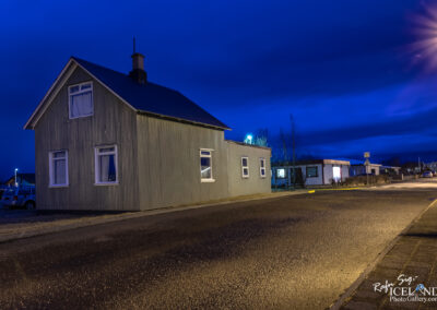 The small house on the corner - Vogar │ Iceland city Photo