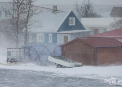 Vogar - Winter Storm │ Iceland city Photography
