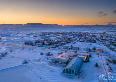 Vogar from air │ Iceland city Photography