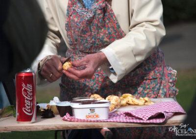 Woman peels potato│ Iceland City Photography