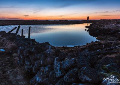 Gerðistangaviti at Atlagerðistangi in the twilight │ Iceland