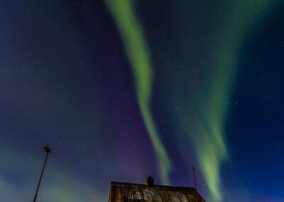 Northern Lights over deserted farm – Reykjanes - Iceland