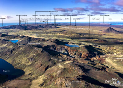 Map of the Eruption area at Reykjanes – Iceland Photo Gallery