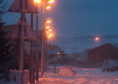 Snowy road in the twilight │ Iceland Photo Gallery