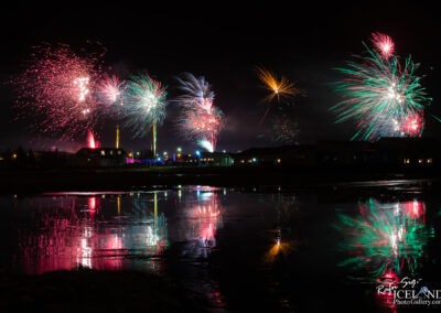 Vogar – New Year Fireworks │ Iceland Photo Gallery