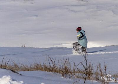 Vogar - Girl in snow │ Iceland Photo Gallery