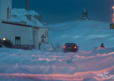 Vogar - Snowy road │ Iceland Photo Gallery