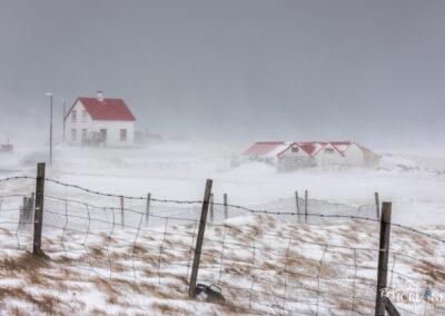 Vogar - Snowstorm │ Iceland Photo Gallery