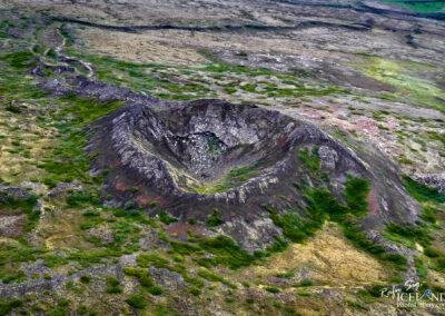 Búrfell near Hafnarfjörður town │ Iceland Landscape from Ai