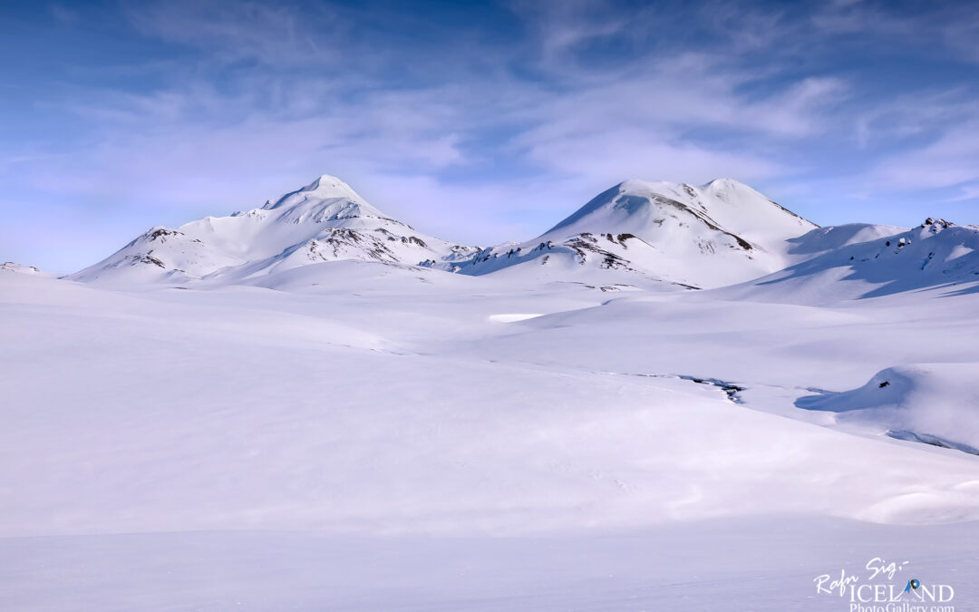 Hellnafjall Mountain in winter snow – Iceland Photo Gallery