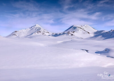 Hellnafjall Mountain in winter snow │ Iceland Photo Gallery