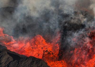 Volcanic eruption at Holuhraun Highlands. Iceland
