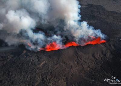 Holuhraun Volcanic eruption │ Iceland Landscape from air
